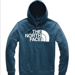 NWT Boy's The North Face Logo Hoodie Shady Blue M